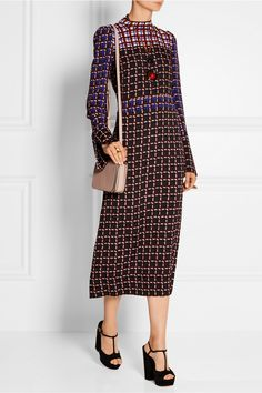 Marni|Printed crepe midi dress|NET-A-PORTER.COM