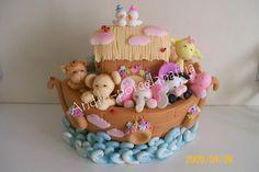 el arca de Noé en porcelana fría