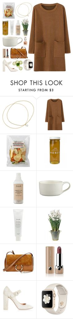 """Don't Go Anywhere"" by batmancrazy ❤ liked on Polyvore featuring Inez & Vinoodh, Bee Raw Honey, Fresh, Crate and Barrel, BULB, Chloé, Marc Jacobs, Gianvito Rossi and Topshop"