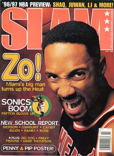 SLAM 13: Miami Heat Alonzo Mourning appeared on the cover of the 13th issue of SLAM Magazine (1996).
