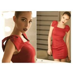 Bodycon Slim Bow Type Sleeve Sexy Women's Show Dress