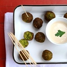 Green Falafel - Mediterranean Chickpeas Fritters