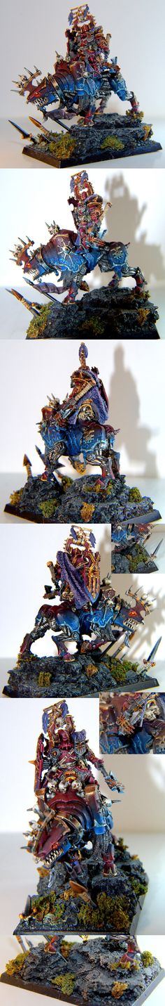 Warriors of Chaos Khorne Lord on Juggernaut