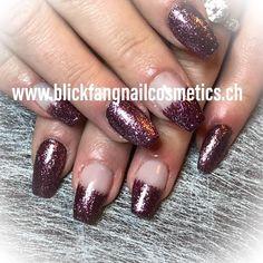 "Stephy Villemain on Instagram: ""#schablone #neumodelage #nagelstudio #nagelstudiobasel #polygelnails #polygel #glitzer #glitzernägel #blingbling #festlich #violet…"" Nails, Instagram, Beauty, Nail Studio, New Fashion, Stencils, Finger Nails, Ongles, Beauty Illustration"
