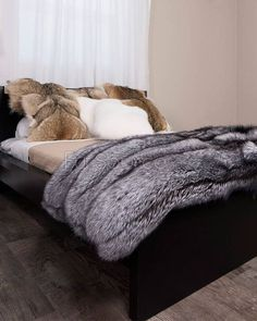 Shop FurSource for the best selection of Premium Full Pelt Fur Blankets. Buy Custom Full Pelt Silver Fox Fur Blanket / Fur Throw by FRR with fast same day shipping. Faux Fur Bedding, Fur Accessories, Fur Blanket, Fox Fur Coat, Fur Coats, Fur Throw, Soft Blankets, Fur Fashion, Cool Rooms