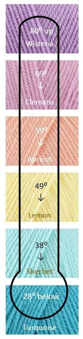 A temperature blanket is a blanket you add a row to each day. The color of the rows changes based on the temperature of each day. It makes a neat colorful record of the temperatures of the years.