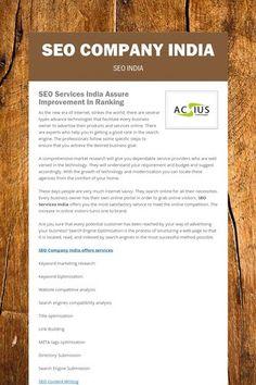 Seo Services Company, Seo Company, Keyword Ranking, Seo Packages, Small Company, Plays, India, Marketing