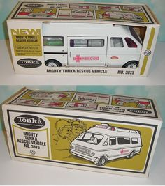 Vintage 1970's Tonka Mighty Rescue Van 3875 w Box I had one of these as a kid.