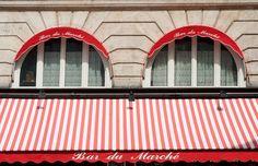 Paris Photo  Red Awning Windows in Parisian Bar by ParisPlus, $25.00