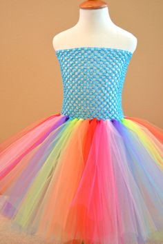 Girls kids Custom Made Rainbow Basic Tutu Dress  All Child sizes or adult skirt by 1583Designs,