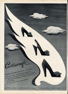 Customcraft Originals shoes ad, 1944. #vintage #shoes #fashion #1940s #ads