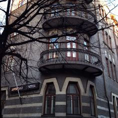 Helsinki balconies
