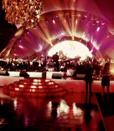 Seth MacFarlane post-Oscar party with a 72 piece orchestra. He sure knows how to impress!!