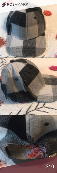 173b6a80ca0 buffalo plaid hat. Black   creme buffalo plaid hat. Adorable for fall. Soft