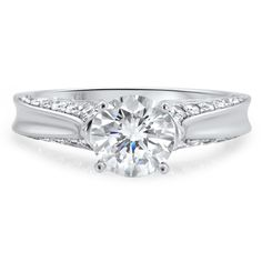 Engagement Rings : VERIS : 18ct White Gold / 4 Claw