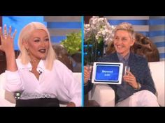 Christina Aguilera Sings Whitney Houston,Beyonce,Madonna,Adele on Ellen