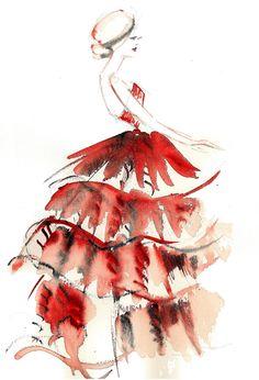 ...red dress...