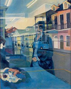 Joni Mitchell - Jackson - The New Orleans Laundromat, 1972, 24 x 30, Oil  ,