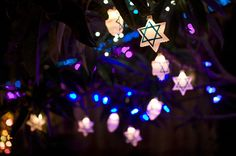 Hanukkah lights...
