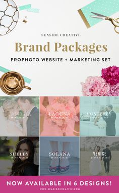 Seaside Creative Brand Packages! ProPhoto Website + Marketing Sets.