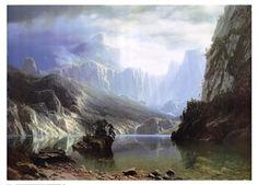 Sierra Nevada, Art Print by Albert Bierstadt