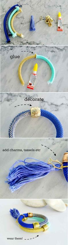 DIY Fashion Bracelets for Girls | DIY Summer Bracelet by DIY Ready at http://diyready.com/cheap-diy-jewelry-projects-for-girls/