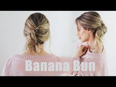 Banana Bun - 5 minute bun tutorial for any hair type | KayleyMelissa - YouTube