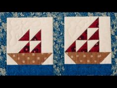 Sail Boats Quilting Patterns, Hand Quilting, Quilting Ideas, Storm At Sea Quilt, Pandoras Box, Sail Boats, Pattern Ideas, Cute Crafts, Heartland
