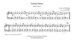 Beethoven : German Dance in E flat Major, WoO 13, No. 9 www.sheetmusic2print.com/Beethoven/German-Dance-13-9.aspx