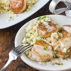 Recipe:  Scallops with White Wine Beurre Blanc & Lemon Orzo   Recipes from The Kitchn