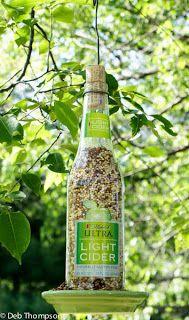 Cheri's Blog: liquor or wine bottle Bird Feeder DIY...my friends will LOVE these