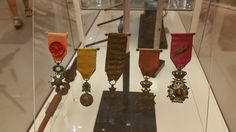 Some of the French medals awarded to Edwin C. Parsons while flying with the Lafayette Escadrille. Photo by Scott Slaten
