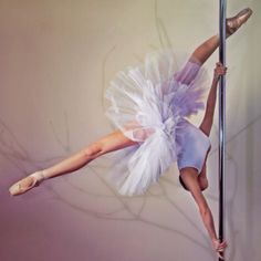 Pole dance and ballet
