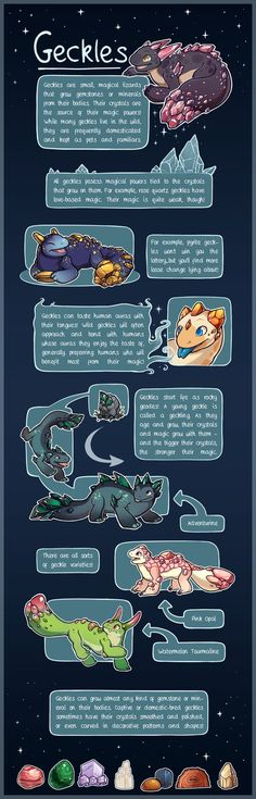 Geckles: Species Guide by Nerblesocks-Adopts on DeviantArt