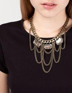 Collar cadena piedras stradivarius 12.95