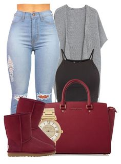 """""""Don't you Take your love away from Me.I'll go Crazy.I'm in Need of all your Love."""" by bria-myell ❤ liked on Polyvore featuring Violeta by Mango, MICHAEL Michael Kors, Michael Kors, UGG Australia, women's clothing, women, female, woman, misses and juniors"""