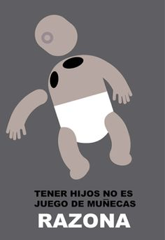 "Poster by Carlos Aponte, ""Razona"", Banco Popular Puerto Rico, Social Awareness Campaign, San Juan."