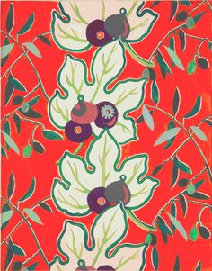 #fabrics #textiles {Lois Mailou Jones figs and olives