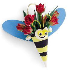 Bijhouder met bloemen