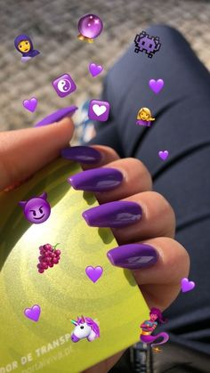 Summer Acrylic Nails, Best Acrylic Nails, Purple Acrylic Nails, Dark Purple Nails, Acrylic Art, Summer Nails, Aycrlic Nails, Manicures, Coffin Nails