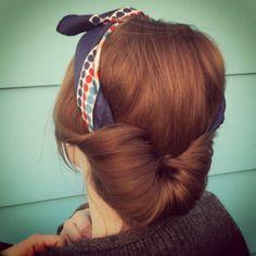 tuto coiffure avec foulard facile