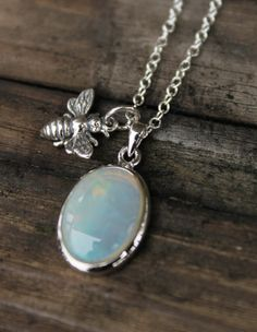≗ The Bee's Reverie ≗  Honey Bee Opal Pendant