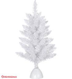 14,90 EUR | Valkoinen paristokäyttöinen pöytäkuusi, korkeus 60 cm ja leveys 35 cm. LED-valopisteitä 20. 3 x AA -paristot eivät sisälly. Ajaastin 6/18 h. Paloiaka ajstimella n. 100 h. Sisäkäyttöön. Koristele mieleiseksi, paristokäyttöinen on myös helppo sijoittaa.