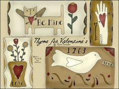 free doodles from Bird in the Hand Primitives...