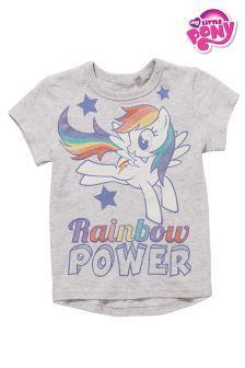 Grey Rainbow Power My Little Pony T-Shirt (3mths-6yrs)