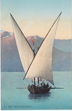 Jullien Frères Postcard - 1307 - Barque du Leman, dated 1907.