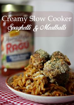 Jaime Loves Stuff : Creamy Slow Cooker Spaghetti & Meatballs (+ $20 Paypal Giveaway!)