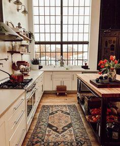 The Nordroom - A Vintage Industrial Barn Home With A Beautiful Green Velvet Sofa - Home Sweet Home - Küchen Design, House Design, Flow Design, Design Homes, Design Layouts, Design Ideas, Home Design Decor, Estilo Interior, Luxury Interior