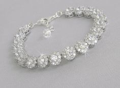 Crystal Wedding Bracelet Bridal bracelet by CrystalAvenues on Etsy, $66.00