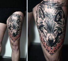 I love how fierce it looks considering thigh tattoo men, tattoo designs men и Upper Thigh Tattoos, Thigh Tattoo Men, Thigh Tattoo Quotes, Thigh Tattoo Designs, Tattoo Designs For Women, Wolf Tattoos, Leg Tattoos, Sleeve Tattoos, Trendy Tattoos